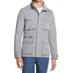 DKNY Mens Utility Field Jacket Griffin Gray Size Small S Zip Button-Up (S), Men's(polyester) found on Bargain Bro Philippines from Overstock for $76.48