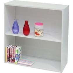 2 Tier Bookcase (Antique White), K and B Furniture Co Inc found on Bargain Bro from Overstock for USD $22.60