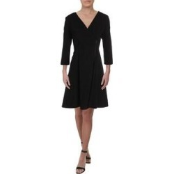 DKNY Womens Wear to Work Dress Surplice 3/4 Sleeves - Black (10), Women's(polyester) found on Bargain Bro from Overstock for USD $28.07