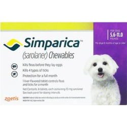 Simparica For Dogs 5.6-11 Lbs (Purple) 3 Chews found on Bargain Bro Philippines from Canadapetcare.com for $28.50