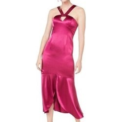 Aidan Mattox Women's Sleeveless Keyhole Hi-Lo Party Dress, Raspberry, 14 (Raspberry - 14), Pink found on MODAPINS from Overstock for USD $75.00