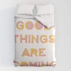 Comforters | Good Things Are Coming by Apricot+birch - Queen: 88