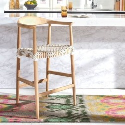 Safavieh Bandelier Natural/ White 27-inch Counter Stool - 24.4