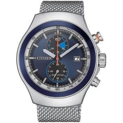 Chronograph Blue Dial Stainless Steel Mesh Mens Watch -83l - Blue - Citizen Watches found on Bargain Bro India from lyst.com for $198.00