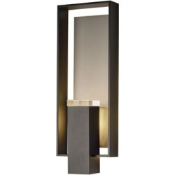 Hubbardton Forge Shadow Box 21 Inch Tall 2 Light Outdoor Wall Light - 302605-1029 found on Bargain Bro from Capitol Lighting for USD $861.08