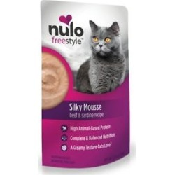 Nulo Freestyle Silky Mousse Beef & Sardine Recipe Grain-Free Wet Cat Food, 2.8-oz, case of 24 found on Bargain Bro from Chewy.com for USD $30.83