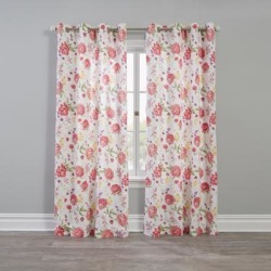 Wide Width BH Studio Canvas Printed Grommet Panel by BH Studio in Rose Multi Fillmore (Size 48