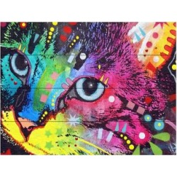 Trademark Fine Art 'Thinking Cat Crowned' Wood Slat Art, Multi, 16X13 found on Bargain Bro Philippines from Kohl's for $80.99