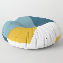 Floor Pillow   Modern Geometric 19 by The Old Art Studio - ROUND - 30