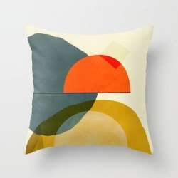 Couch Throw Pillow | Mid Century Geometric Modern Painting Abstract Ii by Ana Rut Bre Fine Art - Cover (16