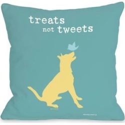 Treats Not Tweets Pillow by Dog is Good
