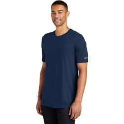 Nike Men's (3XL) Core Cotton Crew Neck Tee, Navy (Navy - XS), Blue found on Bargain Bro India from Overstock for $22.29