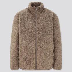UNIQLO Men's Fluffy Yarn Fleece Full-Zip Jacket, Beige, XS found on Bargain Bro India from Uniqlo for $14.90