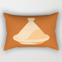 "Made In Morocco #03-the Cooking Pot Rectangular Pillow by Wabaaz - Small (17"" x 12"")"