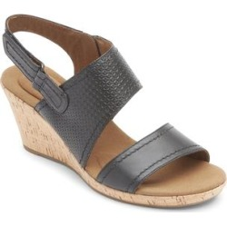 Rockport Women's Sandals BLACK - Black Asymmetrical Briah Leather Sandal - Women found on Bargain Bro India from zulily.com for $26.10