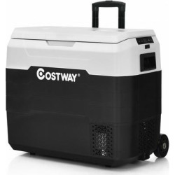 Costway 53 QT Portable Dual-Zone Car Refrigerator-White found on Bargain Bro from Costway for USD $288.76