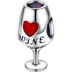 Silver Angle Women's Jewelry Charms solid - Red Cubic Zirconia & Sterling Silver Wine Glass Charm found on Bargain Bro Philippines from zulily.com for $16.99