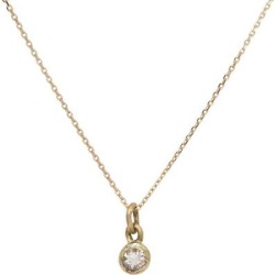 Diamond Solitaire Necklace Bezel Set On Gold - Metallic - Lily Flo Jewellery Necklaces found on Bargain Bro from lyst.com for USD $373.92