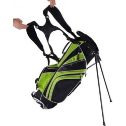 Costway Golf Stand Cart Bag with 6-Way Divider Carry Pockets-Green found on Bargain Bro from Costway for USD $66.84
