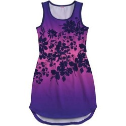 Pixie Girl Girls' Casual Dresses - Purple & Pink Ombre Floral Tie-Waist Sleeveless Dress - Girls found on Bargain Bro Philippines from zulily.com for $17.99