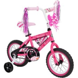 Minnie Mouse Girls' Bikes Pink - Minnie Mouse Pink & White Bike found on Bargain Bro from zulily.com for USD $75.99