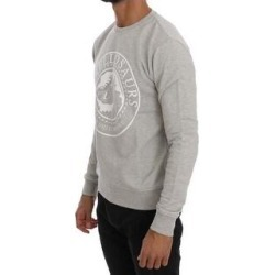 Frankie Morello Gray Cotton Crewneck Pullover Men's Sweater (XL) found on MODAPINS from Overstock for USD $112.10