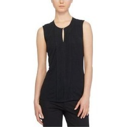Ralph Lauren Womens Keyhole Sleeveless Blouse Top, Black, X-Large (Black - XL), Women's(jersey, solid) found on Bargain Bro India from Overstock for $30.14
