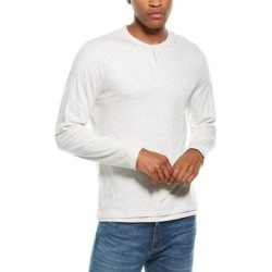 Vince Double Layer Henley (XL), Men's, White(cotton) found on Bargain Bro India from Overstock for $72.59