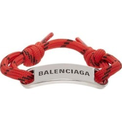 Silver And Red Plate Bracelet - Red - Balenciaga Bracelets found on Bargain Bro from lyst.com for USD $171.00