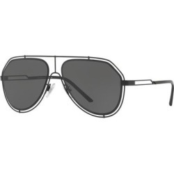 Black Dg2176 Pilot Sunglasses - Black - Dolce & Gabbana Sunglasses found on Bargain Bro India from lyst.com for $215.00