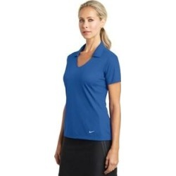 Nike Women's DRI-FIT Mesh Polo (L (12 - 14) - Gym Blue)(polyester, embroidered) found on Bargain Bro from Overstock for USD $28.38