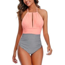 Doris Women's One Piece Swimsuits Pink - Pink Center-Cutout One-Piece - Women found on Bargain Bro India from zulily.com for $19.99