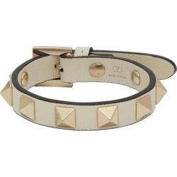 White Rockstud Bracelet - Metallic - Valentino Garavani Bracelets found on Bargain Bro from lyst.com for USD $174.80