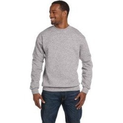 Hanes Men's Light Steel 50/50 Fleece Big and Tall Comfortblend Ecosmart Crew-neck Sweater (2XL), Gray found on Bargain Bro Philippines from Overstock for $19.47