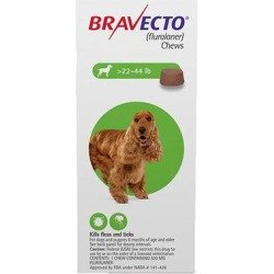 Bravecto For Medium Dogs 22- 44 Lbs (Green) 2 Chews found on Bargain Bro Philippines from Canadapetcare.com for $72.60