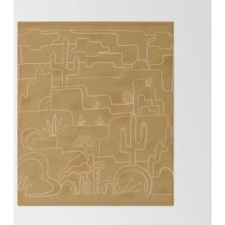 Bed Throw Blanket | Saguaro Cactus Line Drawing by Urban Wild Studio Supply - 51