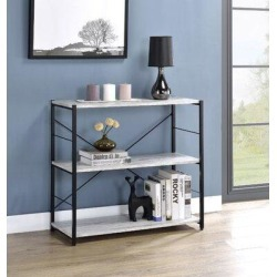 17 Stories Atropos Steel Etagere Bookcase in Black, Size 30.0 H x 32.0 W x 13.0 D in | Wayfair CBACA50E8B1C443F84C91521D900F180 found on Bargain Bro Philippines from Wayfair for $225.99