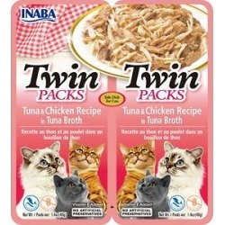 Inaba Twin Packs Tuna & Chicken Recipe in Tuna Broth Grain-Free Cat Food Topper, 1.4-oz, pack of 2 found on Bargain Bro from Chewy.com for USD $2.27