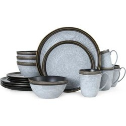 Mikasa Willa Brown 16 Piece Dinnerware Set (Service for 4) (Brown - 16 Piece)(Stoneware, Banded) found on Bargain Bro from Overstock for USD $77.51