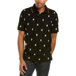 Burberry Embroidered Monogram Polo Shirt (S), Men's, Black(cotton) found on Bargain Bro India from Overstock for $419.09
