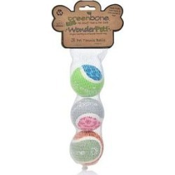 Greenbone Assorted Tennis Balls Dog Toy, Small 1.88-in, 3 count found on Bargain Bro India from Chewy.com for $7.99