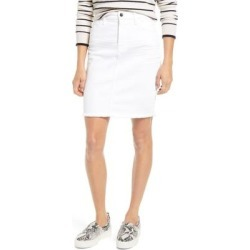 Frayed Denim Pencil Skirt - White - Jen7 Skirts found on Bargain Bro Philippines from lyst.com for $79.00