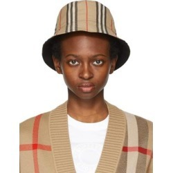 Reversible Beige Icon Stripe Bucket Hat - Natural - Burberry Hats found on Bargain Bro from lyst.com for USD $319.20