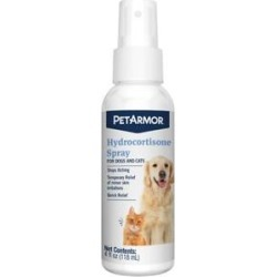 PetArmor Hydrocortisone Quick Relief Spray for Dogs & Cats, 4-oz bottle found on Bargain Bro India from Chewy.com for $6.49