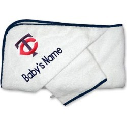Minnesota Twins Infant Personalized Hooded Towel & Mitt Set - White found on Bargain Bro Philippines from Fanatics for $44.99