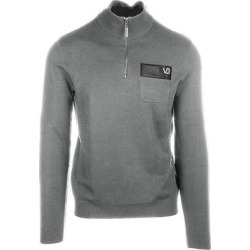 Versace Jeans Mens Gray Zip Sweater (M), Men's(wool) found on Bargain Bro from Overstock for USD $171.00