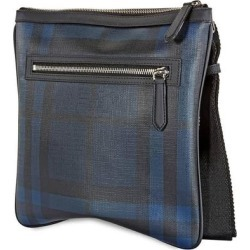 Mens Check Navy/black Beckley Crossbody - Blue - Burberry Messenger found on Bargain Bro from lyst.com for USD $228.00