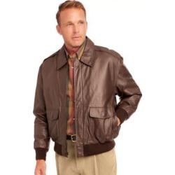 Men's John Blair Aviator Leather Jacket, Cognac Brown XL Regular found on Bargain Bro Philippines from Blair.com for $169.99