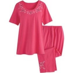 Women's Plus Lounge Set, Berry Pink 3XL found on Bargain Bro from Blair.com for USD $28.11