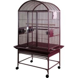 A&E Burgundy Large Dome Top Bird Cage, 32